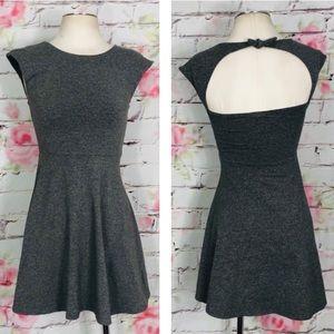 Talula fit and flare dress w back cutout